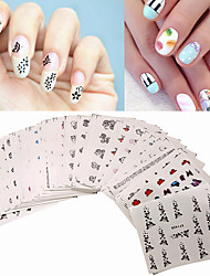50pcs/Set Nail stickers Watermarks Nail Stickers Set XF Floret Department of 50 Different Sections