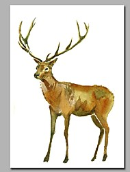 High Spirited Elk 100% Hand Painted Contemporary Oil Paintings Modern Artwork Wall Art for Room Decoration