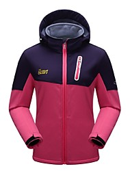 cheap -Women's Hiking Fleece Jacket Outdoor Winter Windproof Wearable Breathability Stretchy Winter Fleece Jacket Softshell Jacket Winter Jacket