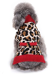 cheap -Cat Dog Coat Sweater Dog Clothes Party Casual/Daily Cosplay Keep Warm Wedding Christmas New Year's Leopard Leopard For Pets