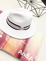 Women's Straw Hat,Casual Solid