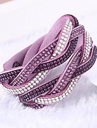Femme Bracelets Bracelets en cuir Fait à la main Simple Style Cuir Forme de Cercle Bijoux Pour Plein Air