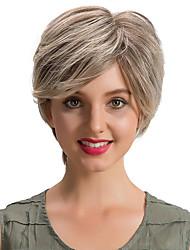 Romantic Beautiful Short  Human Hair Wigs For Women