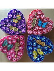 Heart-shaped Plastic Favor Holder With Rhinestone Bow Favor Boxes Gift Boxes-1