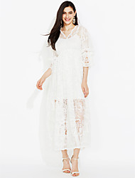 Sign Complex Guluolita Heavy openwork embroidery lace jumpsuit dress two wear collar V-neck