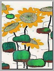 economico -Danza girasole decorazione della parete dipinti a mano dipinti ad olio contemporanei opere d'arte moderna arte della parete