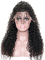cheap -Curly Lace Front Human Hair Wigs For Black Women Pre Plucked 250% Density Mongolian Non-remy CARA Hair Bleached Knots