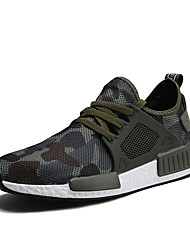 cheap -Men's Shoes Breathable Mesh Spring Fall Light Soles Athletic Shoes Walking Shoes Lace-up for Casual Gray Green
