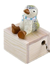 cheap -Music Box Wood Penguin Carousel Animals Castle in the Sky Lovely Unisex Gift
