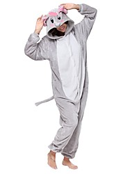 economico -Pigiama Kigurumi Elefante Pigiama intero Pigiami Costume Flanella Grigio Cosplay Per Per adulto Pigiama a fantasia animaletto cartone