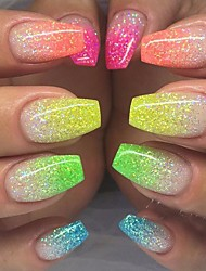 cheap -12Bottles/Set Fashion Nail Art Fluorescent Glitter Powder DIY Decoration Nail Art Beauty Glow Neon Powder Glitter 3d Nail Bright Design Pigment YG1-12