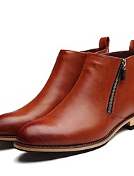 cheap -Men's Shoes Patent Leather Fall / Winter Bootie Boots Black / Brown / Party & Evening