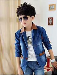 Boys' Solid Suit & Blazer,Cotton Acrylic All Seasons Long Sleeve