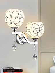 baratos -Moderno / Contemporâneo Luminárias de parede Para Vidro Luz de parede 220V 60W