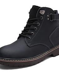 Herrer Støvler Komfort Snestøvler Ridestøvler Modestøvler Motorcykel Støvler Støvle Militærstøvler Lysende såler Efterår Vinter Ægte