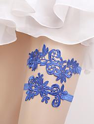 Недорогие -Эластичный Гамаши / Для вечеринки / Свадьба Свадебный подвязка С Цветы Подвязки
