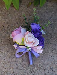 preiswerte -Hochzeitsblumen Knopflochblumen Hochzeit Organza Satin 10 cm ca.