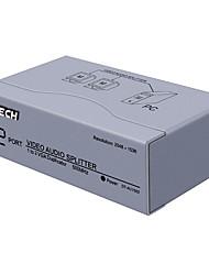 DTECH VGA Splitter VGA to VGA Splitter with Audio Plug Female - Female One Input Two Output