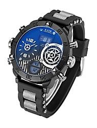 baratos -Homens Relógio de Pulso Japanês Calendário / Impermeável / Criativo Silicone Banda Amuleto / Luxo / Vintage Preta