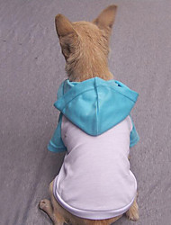 cheap -Dog Shirt / T-Shirt Hoodie Dog Clothes Casual/Daily Solid Gray Fuchsia Red Blue Pink Costume For Pets