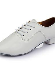 Для мужчин Современный Дерматин На каблуках Для закрытой площадки Каблуки на заказ Белый 3,5 см Персонализируемая