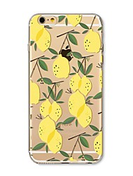 Etui til iphone 7 plus 7 cover gennemsigtigt mønster bagside cover frugt flise citron soft tpu til apple iphone 6s plus 6 plus 6s 6 se 5s