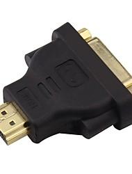 DVI Adaptateur, DVI to HDMI 1.4 Adaptateur Mâle - Femelle Cuivre plaqué or