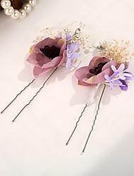 cheap -Imitation Pearl Rhinestone Fabric Alloy Flowers Hair Stick 1 Wedding Special Occasion Birthday Party / Evening Headpiece
