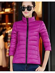 Dámské Dlouhý kabát Jednoduché Aktivní Jdeme ven Jednobarevné Proužky Tisk-Kabát Bavlna Akryl Jiné Polypropylen Dlouhý rukáv