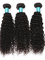cheap -3 Bundle Kinky Curly Hairs 300g Brazilian Virgin Hairs Bundles 100% Human Hairs Extensions Texture Curly Kinky Curly Hair Weft