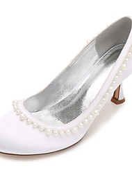 cheap -Women's Wedding Shoes Comfort Satin Spring Summer Wedding Party & Evening Dress Rhinestone Bowknot Flat HeelIvory Champagne Blue Ruby