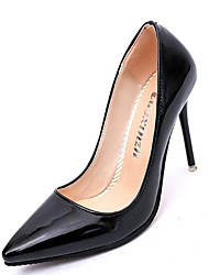 Women's Shoes Real Leather PU Fall Winter Comfort Basic Pump Heels For Casual White Black Gray Red Blushing Pink