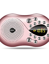 abordables -Q5 FM Radio portable Radio FM Enceinte interne Carte SDWorld ReceiverOr Rose