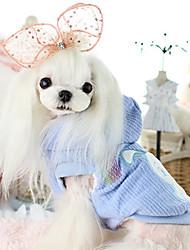 preiswerte -Hund Mäntel Hundekleidung Warm Lässig/Alltäglich Tier Blau Rosa Kostüm Für Haustiere