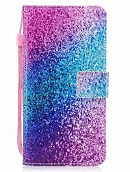 Недорогие -Чехол для iphone 7 7 плюс держатель карты кошелек флип цвет песочный рисунок полный корпус чехол твердая кожа pu для iphone 6 6s 6 плюс 6s