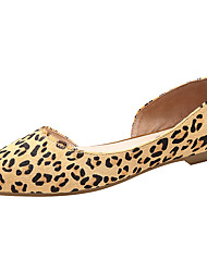 cheap -Women's Loafers & Slip-Ons Comfort D'Orsay & Two-Piece Light Soles Spring Summer Horse Hair Casual Outdoor Flat Heel Leopard Flat