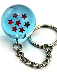 Inspired by Dragon Ball Son Goku Anime Cosplay  1 Stars Crystal Blue Ball Key Ring of  Dragon Ball Z Balls Key Buck 11CM