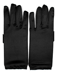 Wrist Length Fingertips Glove Spandex Bridal Gloves Party/ Evening Gloves All Seasons Pleated