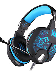 G1100 Vibration Function Professional Gaming Headphone Games Headset with Mic Stereo Bass Breathing LED Light for PC Gamer