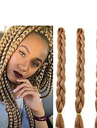 Недорогие -Волосы для кос Косые оплетки Крупные косы Накладки из натуральных волос 100% волосы канекалона косы волос Повседневные