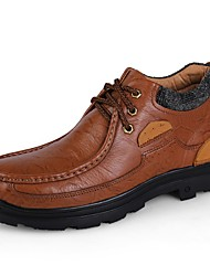 Men's Oxfords Fluff Lining Driving Shoes Formal Shoes Comfort Winter Real Leather Cowhide Nappa Leather Casual Outdoor Office & Career