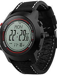 Men's Digital Watch DigitalAltimeter Compass Thermometer Calendar Chronograph Water Resistant / Water Proof Dual Time Zones Pedometer