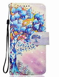 Case For Samsung Galaxy S8 S8 Plus Tree Pattern 3D PU Wallet Leather Card Holder with Hand Strap for Samsung Galaxy S7 S7 Edge