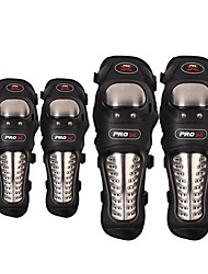 cheap -Pro-Biker Motorcycle Protective kneepad  Knee Protector equipment joelheiras de motocross CE Approval Guards racing  Knee Pad elbow pad  Four-piece su
