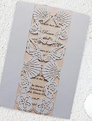 Piegato a cancello Inviti di nozze 50-Invito Cards Invito campione Biglietti per la Festa della mamma Cartoline di auguri per il neonato