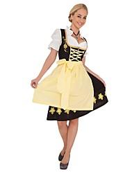 Fête d'Octobre/Bière Cosplay Une Pièce Robes Costumes de Cosplay Tenue Féminin Adulte Fête d'Octobre Fête / Célébration Déguisement