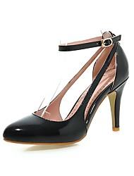Feminino Saltos Tira no Tornozelo Solados com Luzes Sapatos formais Courino Primavera Outono Casamento Festas & Noite Caminhada Presilha