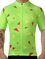 FUALRNY® Cycling Jersey Men's Short Sleeves Bike Jersey Top Quick Dry Breathability 100% Polyester Summer Mountain Cycling Road Cycling