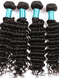 Deep Wave Hair Extensions 4 Bundles Human Hair Weft 400 Gram Brazilian Virgin hairs Deep Wave Hair