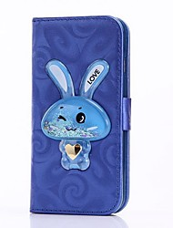 cheap -Case For iPhone 6 6 Plus Cover Card Holder Wallet with Stand Rabbit Shifting Sand Funnel Flip  PU Leather Case for iPhone 5 5S Se